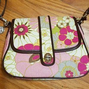 Spartina Floral Linen Purse